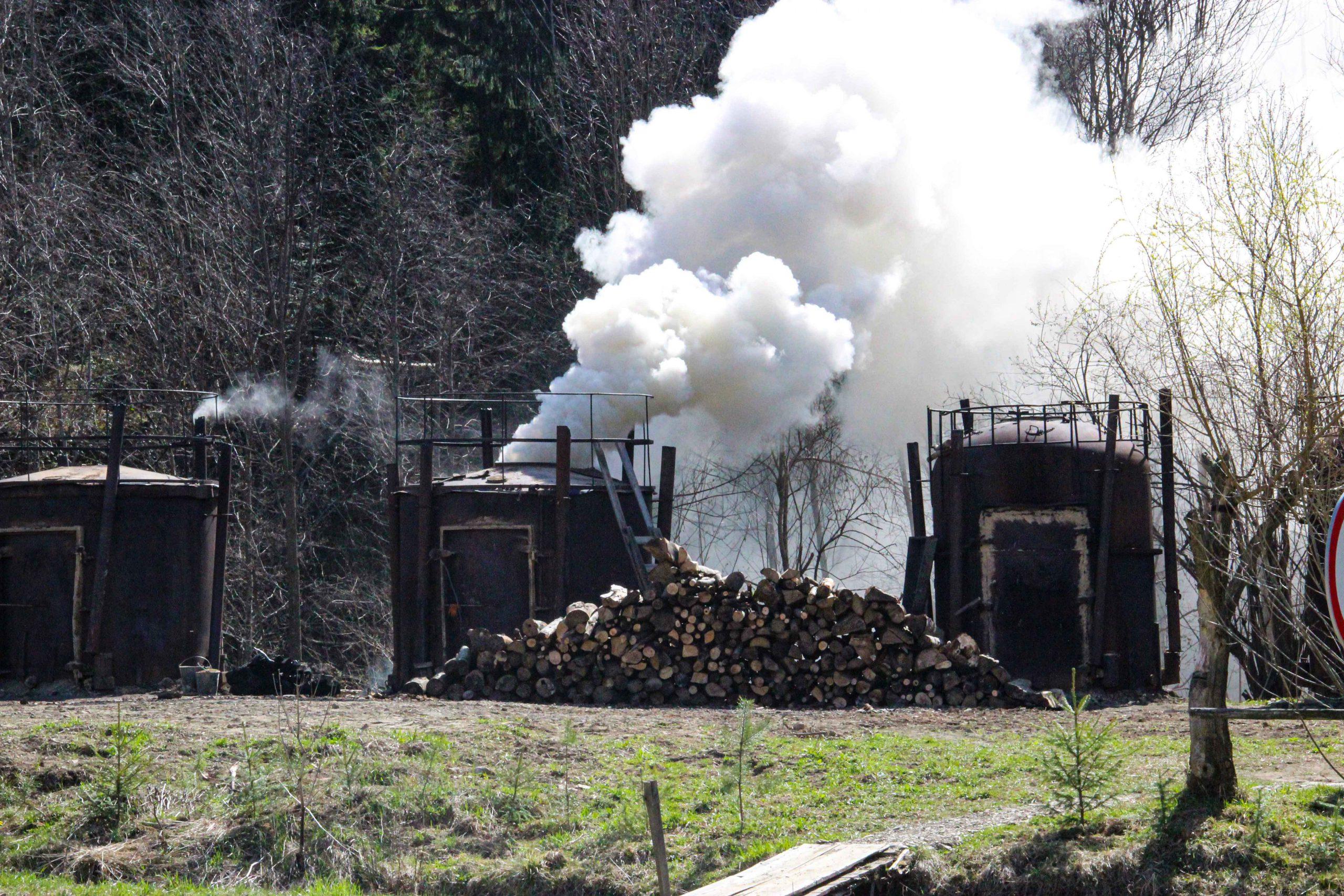 Retorty - wypalanie węgla